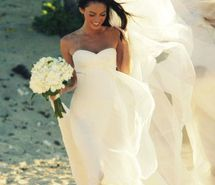 Inspiring picture armani, beach, beautiful, bouquet, bride, dress. Resolution: 500x676 px. Find the picture to your taste!
