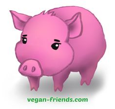 One of Vegan Friends mascot, Parsley the Piglet