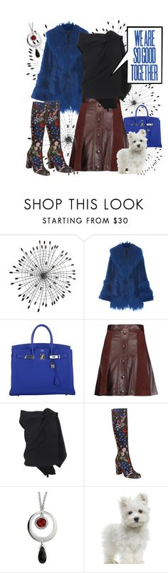 """""""So Good"""" by poetic-flame ❤ liked on Polyvore featuring Cyan Design, Anna Sui, Hermès, Just Cavalli, Roland Mouret and Valentino"""