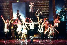 Tony-winner Alan Cumming and the company of Cabaret performing at the 1998 Tony Awards.