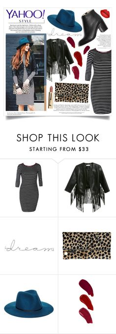 """stripe and fringe"" by adyssasasha ❤ liked on Polyvore featuring White Label, Glamorous, Clare V., ASOS, Ellis Faas, Paul Andrew, contestentry and yahoostyle"