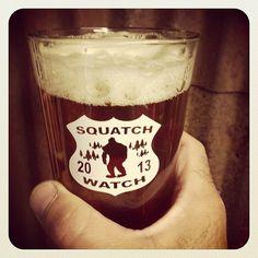Squatch Watch 2013 Pint Glass, Beer, Mugs, Watch, Tableware, Root Beer, Ale, Clock, Dinnerware