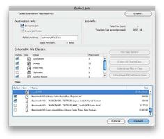 Collect or Package fonts and images - #indesign #illustrator #photoshop #quark and more with FlightCheck: http://www.markzware.com/products/flightcheck