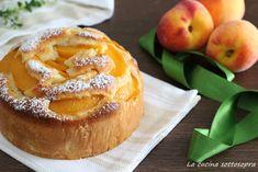 Torta+alle+pesche+con+limone+frullato