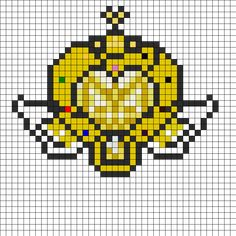 Sailor Moon Stars Brooch Perler Bead Pattern / Bead Sprite