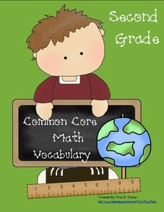 Math vocabulary is essential! This is especially important when children struggle in the area of reading. Help your students master the math vocabulary terms from the Common Core Standards. This 100 page printable packet contains a printable word wall color coded by domain and visuals to help early readers, printable Domain labels, flip books to help students learn vocabulary, printable flashcards for personal word walls or as a parent resource, and math toolkit labels.