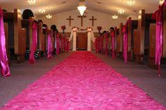 Beautiful custom rose petal aisle runners in all by MissCreaTif, $300.00