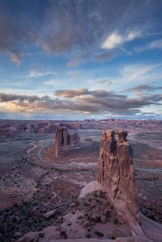 This is sunset over the Three Gossips and Courthouse Towers looking towards Elephant Butte and the Windows section. Photo courtesy of Dan Ransom. — with Dan Ransom Photography at Arches National Park.