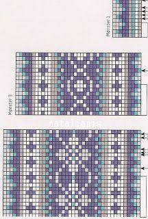 Fair Isle Knitting Patterns, Knitting Charts, Knitting Stitches, Knitting Designs, Sock Knitting, Knitting Tutorials, Free Knitting, Knitting Machine, Punto Fair Isle