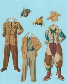 Vintage Paper Doll Outfits Alec