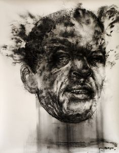 diane victor_Fall-Out Man Smoke Drawing, Smoke Painting, Peace Drawing, Modern Portraits, South African Artists, Elements Of Art, Types Of Art, Face Art, Art World