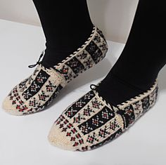Hand Knitted Slippers by KnitsByDikmen on Etsy, $15.00