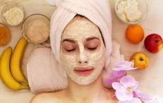 Show your skin some self-love! Pamper your face with a natural facial at home. These steps will ensure you'll have glowing skin anytime. Homemade Facial Mask, Homemade Facials, Homemade Masks, Home Facial Treatments, Best Eye Makeup Remover, Banana Face Mask, Face Wrinkles, Natural Facial, Flaky Skin