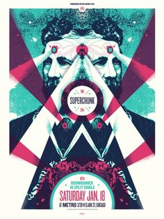 Superchunk- Tomorrow Never Knows Festival Gig Poster