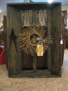 Primitive Window, i have one that i have been wanting to spruce up.. and i think i found what i want to do <3