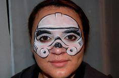 storm trooper face paint - Google Search