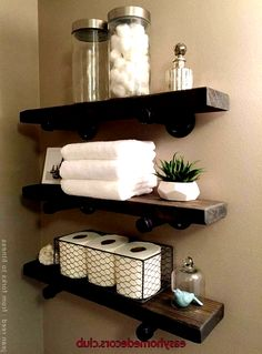 Bathroom Decor shelves Easy Home Decors Easy Home Decors Diy Home Decor Bedroom, Easy Home Decor, Home Decor Styles, Bedroom Ideas, Bathroom Renos, Small Bathroom, Bathroom Shelf Decor, Floating Shelves Bathroom, Nature Bathroom