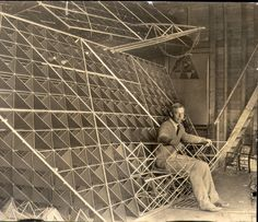 Cockpit of Bell's tetrahedral plane at his laboratory in Nova Scotia