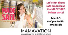 Join us NEXT Wednesday for the #MadeSafe Twitter Party. This is a HUGE party because never before have we had a lab testing personal care products to certify that they are safe. This is a total game changer! Join us for the party and win some prizes from brands that have already gone through the process!