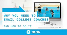 Emailing college coaches can be a daunting task for high school volleyball players. What should the email say? What should the subject line be? How should video be included? Share these tips with your players: Play Volleyball, Coaching Volleyball, Volleyball Players, Camping Invitations, College Recruiting, Staff Directory, Coach K, University Of Tennessee, Student Council