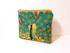 Small Zipper Pouch Small Wallet Cosmetic Bag by handjstarcreations, $9.00