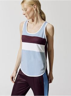 SWEATY BETTY MORGAN WORKOUT VEST Cornflower Blue TANK TOPS