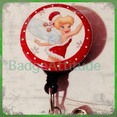 Retractable Badge Reel ID Holder With Christmas by BadgeAttitude