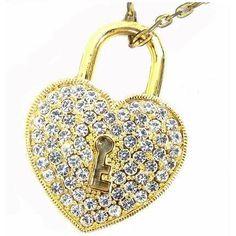 Pendrive Personalizado Joia - Coração cadeado dourado com pedras brilhantes R$57.90