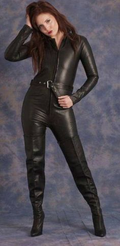Leather Boots, Jumpsuit, Bodysuit, Leggings, Pants, Outfits, Woman, Fashion, Nice Things