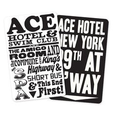Ace Hotel Ace Hotel, Typography Logo, Typography Design, Bokashi, Hotel Amenities, Hotel Branding, Types Of Lettering, Brand Identity Design, Art Pages