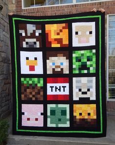 The Fleming's Nine: Minecraft Quilt