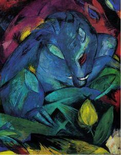 """""""Eber und Sau"""": In der Ausstellung in München wurden insgesamt fünf Werke des Malers Franz Marc gezeigt, darunter auch """"Eber und Sau"""" von 1913. Nach einer Intervention des """"Deutschen Offiziersbundes"""" wurde zumindest das Bild """"Der Turm der blauen Pferde"""" wieder aus der Schau entfernt. Marc, der sich freiwillig zum Ersten Weltkrieg gemeldet hatte, war 1916 in der Schlacht von Verdun gefallen. Zur Datenbank zum Beschlagnahmeinventar der Aktion """"Entartete Kunst"""", Forschungsstelle """"Entart..."""