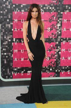 Lily Aldridge en robe Alexandre Vauthier et escarpins Stuart Weitzman à la cérémonie des MTV Video Music Awards, le 30 août 2015