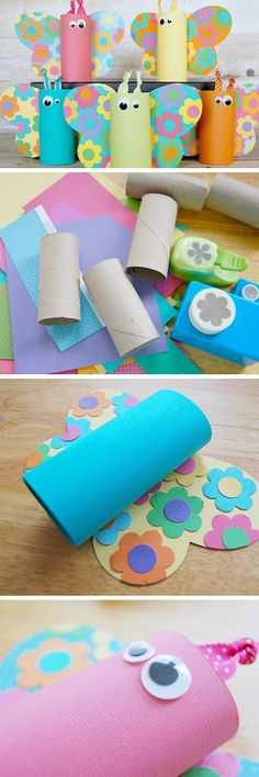 Toilet paper tube butterflies click pic for 22 diy spring crafts for kid to make easy spring craft ideas for toddlers Spring Crafts For Kids, Crafts For Kids To Make, Summer Crafts, Projects For Kids, Craft Projects, Craft Ideas, Diy Ideas, Easy Crafts For Toddlers, Daycare Crafts