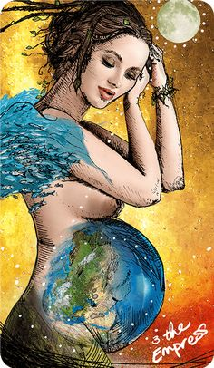 Light Seer's Tarot Meanings The Empress – The Light Seer's Tarot // Chris-Anne // Tarot Cards and Meanings Le Tarot, Birth Art, Tarot Major Arcana, Book Of Kells, Tarot Card Meanings, Triple Goddess, The Empress, Kaiser, Illustrations