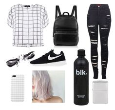 """""""Health goth street wear"""" by draegan on Polyvore featuring Myne, 2LUV, NIKE and Elizabeth and James"""