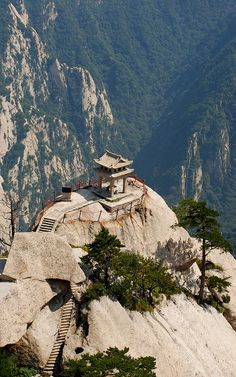 Temple rock, Shaanxi, China