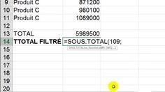 """Excel : """" Comment faire un total de données filtrées """" (en 27 secondes)"""