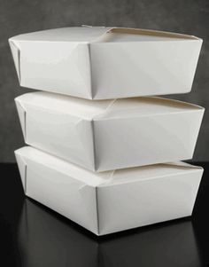 """Pastry Boxes White Paper 8"""" x 6"""" (50 boxes)"""