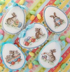 Easter Parade - Cross Stitch Pattern by Sue Hillis