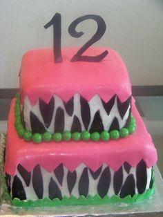birthday+cakes+for+teenage+girls   Neon Zebra Cake — Children's Birthday Cakes