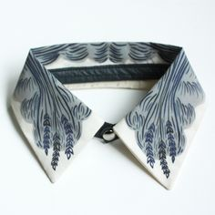 "Detachable Silk Shirt Collar - ""Wheat"" -  Jen Storey Collaboration. By Angie Johnson (aka iheartnorwegianwood) on etsy."