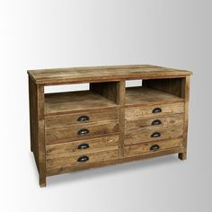 Bleached Pine Media Console