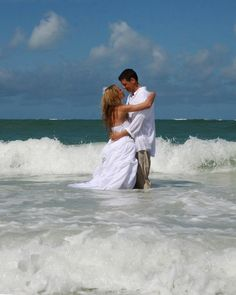 Trash the dress- beach wedding  Photo by Darlayne Coughlin