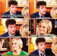 When Ben and Leslie decided to progress their already perfect relationship even further.