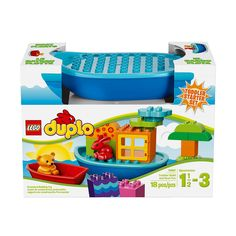 Bath time can be extra fun when your child builds the LEGO DUPLO boats. There are animals, including a red rabbit and a cute bear as well as bricks to expand the fun even more. Also included are a window, archway, patterned bricks and the opportunity to build a tree or small homes for the animals. These extra-large LEGO DUPLO bricks in bright and vibrant colors are perfect for curious fingers and a great introduction to creative building for toddlers.