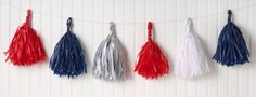 How To: Pom Pom Garland - a festive accent for 4th of July and beyond!