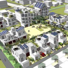 Eco-quartier à Joué lès Tours (37)   Ilex Paysages & Urbanisme