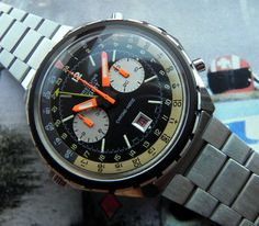 Stunning Vintage Breitling Chrono-Matic In Stainless Steel Circa 1970s