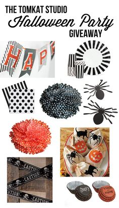 Halloween Party Giveaway on Eighteen25! Enter to WIN all of these items from The TomKat Studio Shop! http://eighteen25.blogspot.com/2013/09/spooktacular-giveaway-tomkat-studio.html